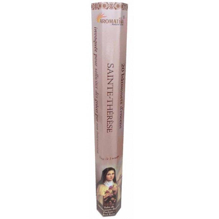 Encens naturel Sainte Thérèse tube de 20 bâtonnets
