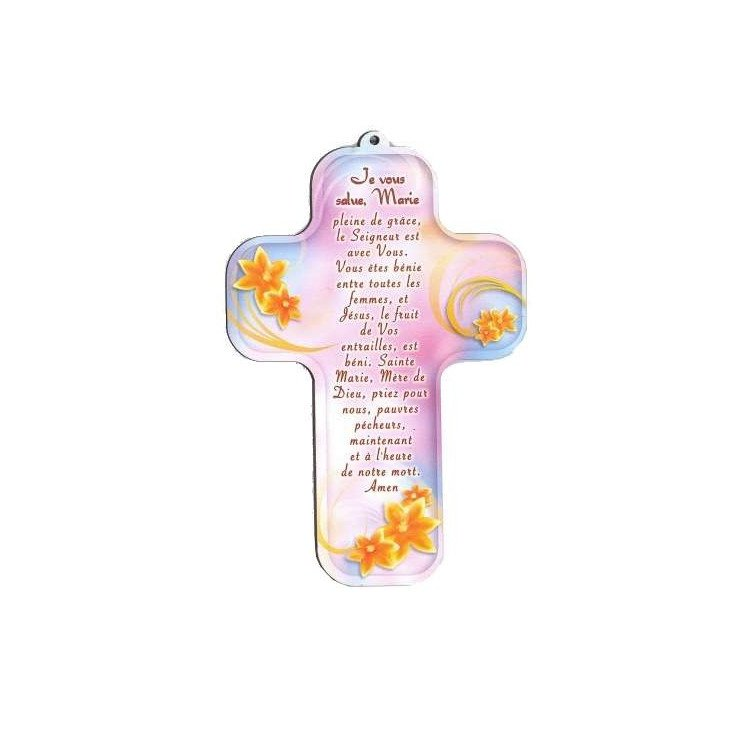 Croix pour enfant - 'Je vous salue Marie'