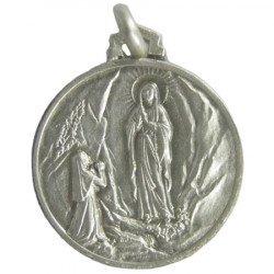 Médaille Notre Dame de Lourdes - argent