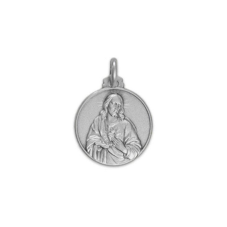 Médaille Sacré-Cœur de Jésus - argent