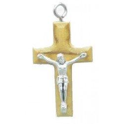 Croix en bois d'olivier avec cordon - 3 cm
