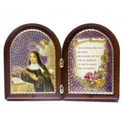 Diptyque sainte Rita avec prière
