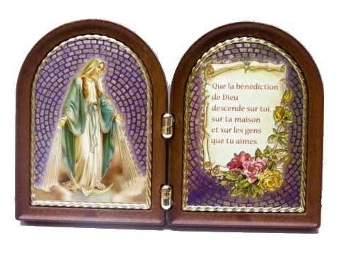 Diptyque Vierge Miraculeuse avec prière