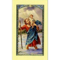 Image avec prière - Saint Christophe