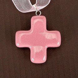 Croix pendentif en céramique