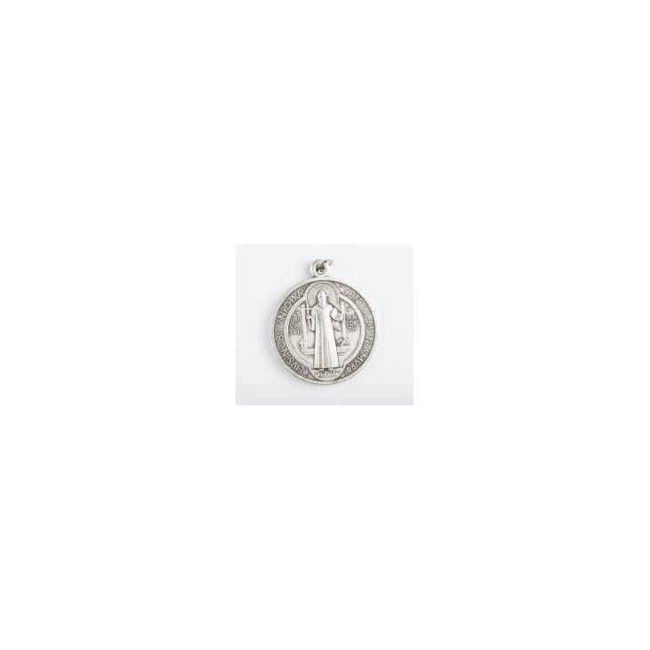 Médaille Saint Benoit en métal - 18 mm