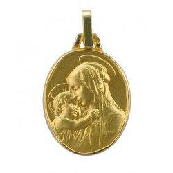 Médaille de la Vierge à l'Enfant - plaqué or