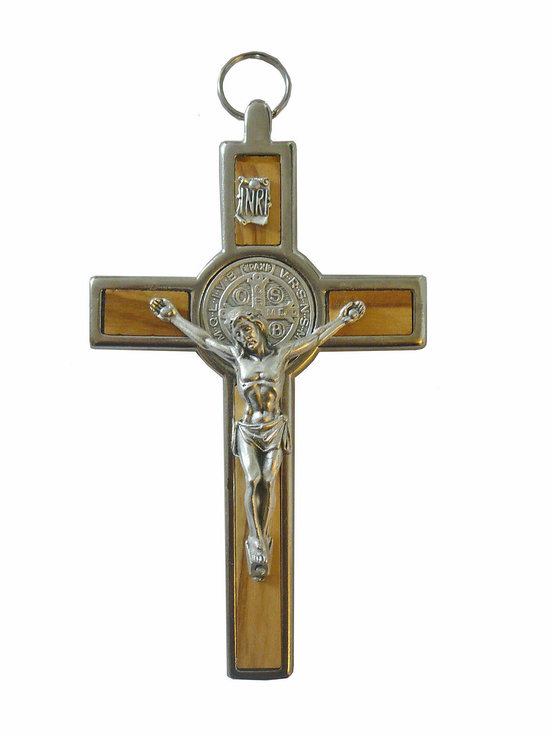 Crucifix de Saint Benoit - Bois d'olivier