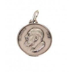 Médaille Saint Padre Pio - argent