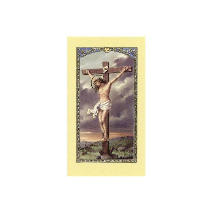 Image avec prière - Christ en croix