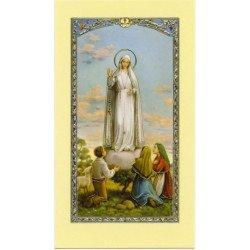 Image avec prière - Notre-Dame de Fatima