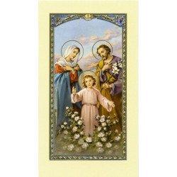 Image avec prière - Sainte Famille