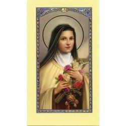 Image avec prière - Sainte Thérèse