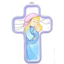 Croix enfantine - Vierge à l'enfant