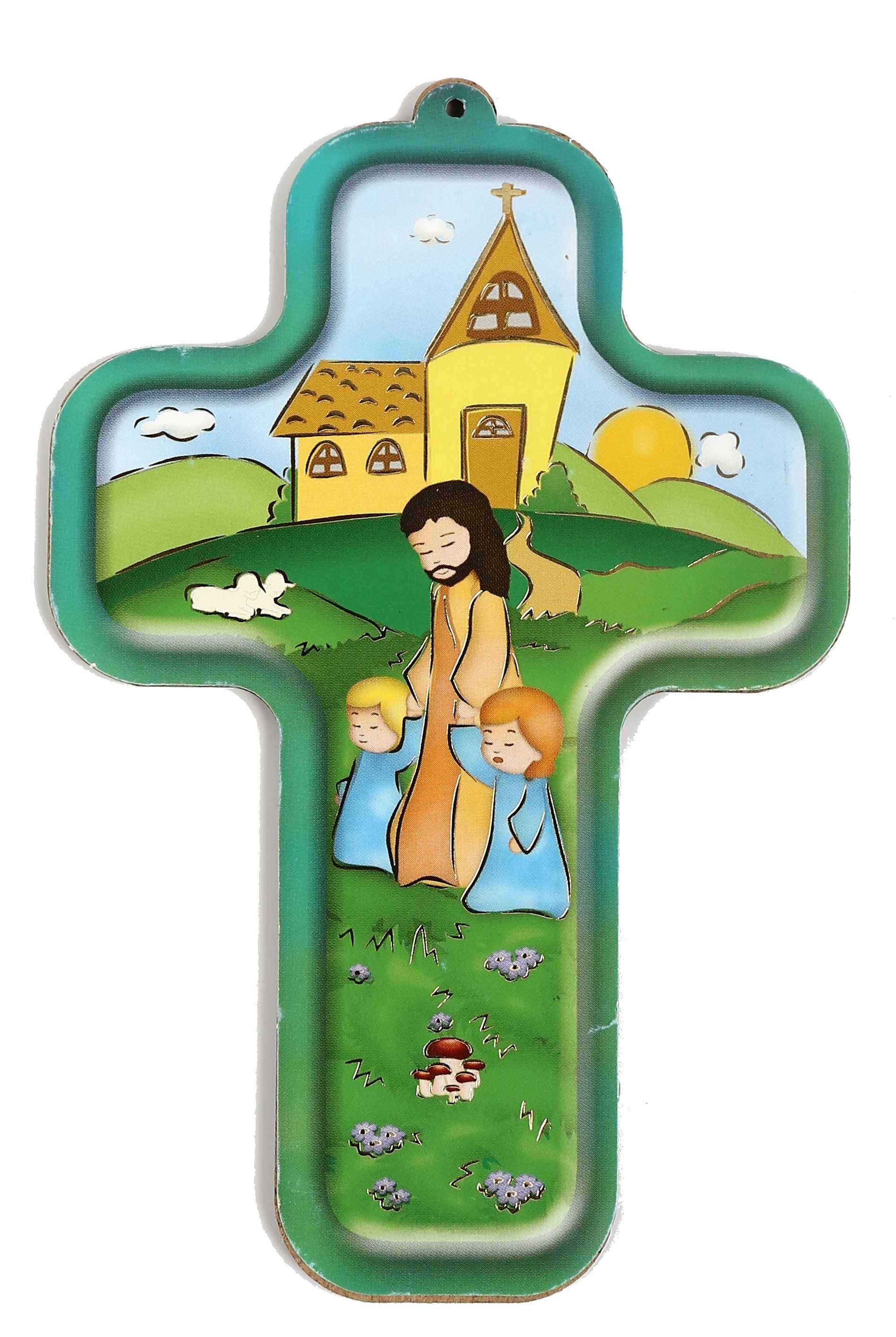 Croix enfantine - Tendresse paternelle