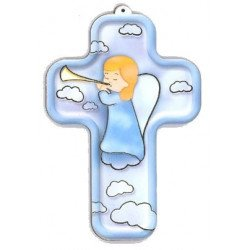 Croix enfantine - Ange musicien