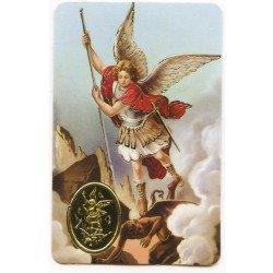 Carte de prière avec poinçon - Saint Michel
