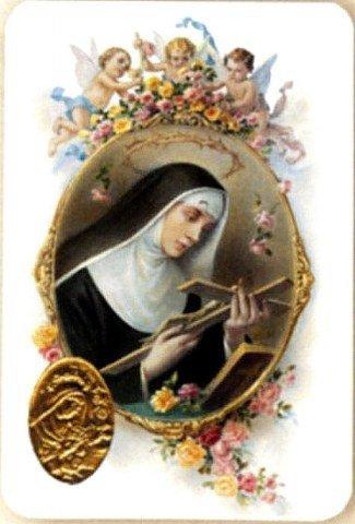 Carte de prière avec poinçon - Sainte Rita