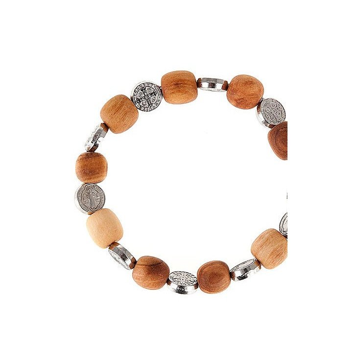Bracelet Saint Benoit - Bois d'olivier