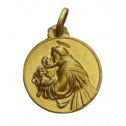 Médaille Saint Antoine de Padoue - plaqué or