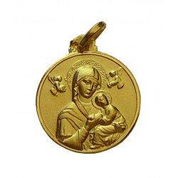 Médaille Notre Dame du Perpétuel Secours - plaqué or