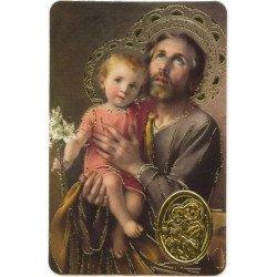 Carte de prière avec poinçon - Saint Joseph