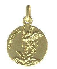 Medaille plaqué or de Saint Michel 16 mm