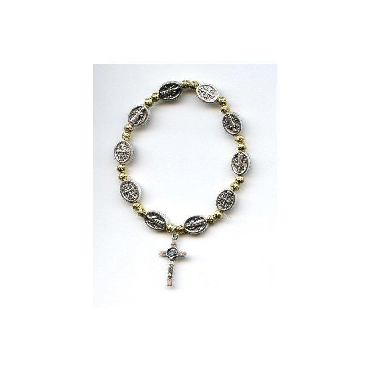 Bracelet Saint Benoit - Doré et argenté