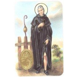 Carte de prière avec poinçon - Saint Pérégrin