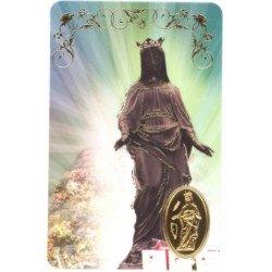Carte de prière avec poinçon - Vierge Noire