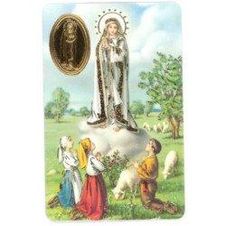 Carte de prière avec poinçon - Notre Dame de Fatima
