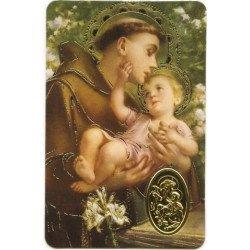 Carte de prière avec poinçon - Saint Antoine