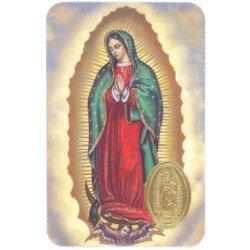 Carte de prière avec poinçon - Notre-Dame de Guadalupe