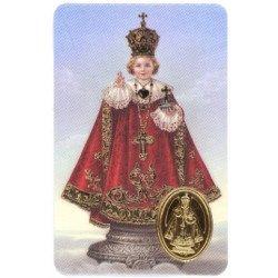 Carte de prière avec poinçon - Enfant Jésus de Prague