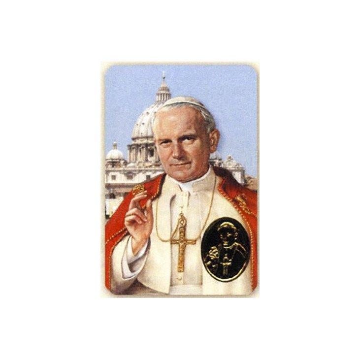 Carte de prière avec poinçon - Jean Paul II