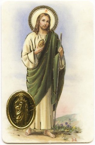 Carte de prière avec poinçon - Saint Jude