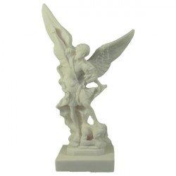Statue de Saint Michel en albâtre - 20 cm