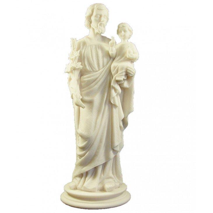 Statue de Saint Joseph en albâtre - 38 cm