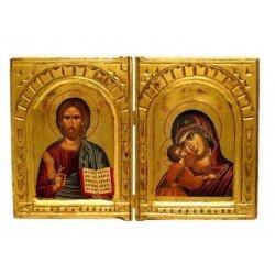 Icône diptyque Vierge de Tendresse
