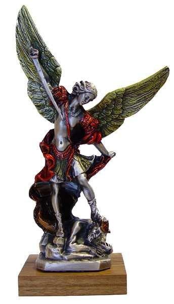 Statue Saint Michel Archange en métal - 22 cm