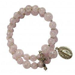 Bracelet dizainier rose - Cristal craquelé