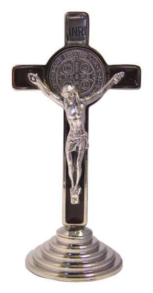 Croix sur Pied en Résine de Saint Benoît