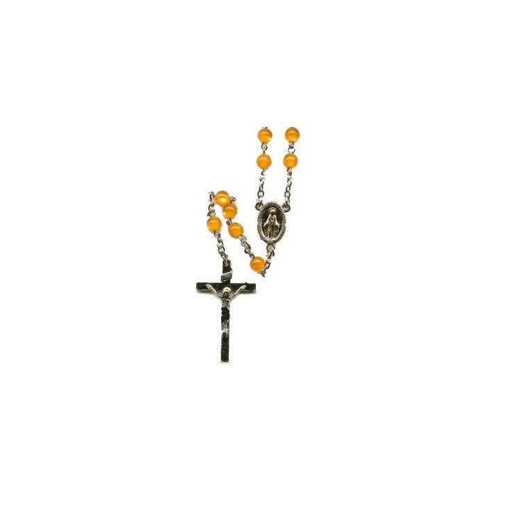 Chapelet Vierge Miraculeuse - Ambre