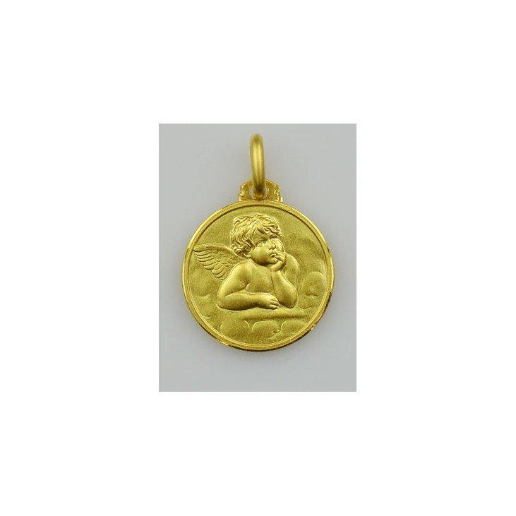 Médaille Ange - plaqué or