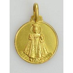 Médaille Enfant Jésus de Prague - plaqué or
