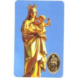 Carte de prière avec poinçon - Notre Dame de la Garde