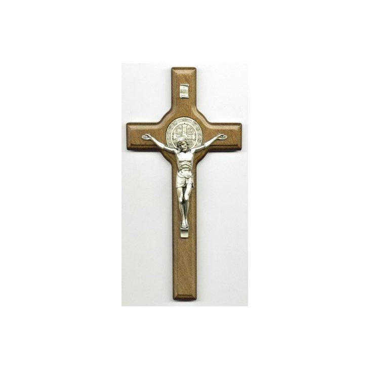Crucifix Saint Benoît - Bois foncé