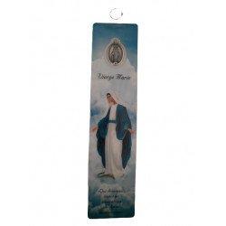 Carte avec prière et médaille - Vierge Miraculeuse