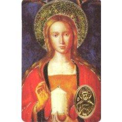 Carte de prière avec poinçon - Sainte Marie-Madeleine