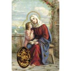 Carte de prière avec poinçon - Sainte Anne